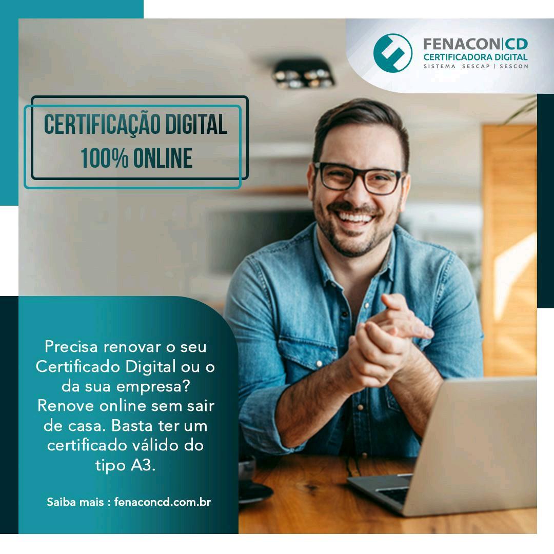 Certificado Online NF-e A3 3 anos Sem Mídia