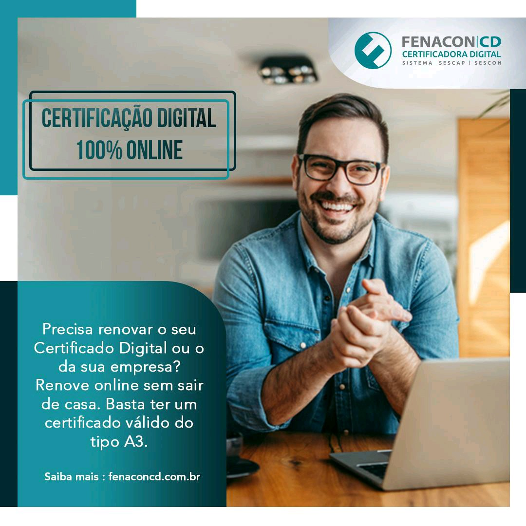 Certificado Online e-PF A3 1 ano (sem midia)