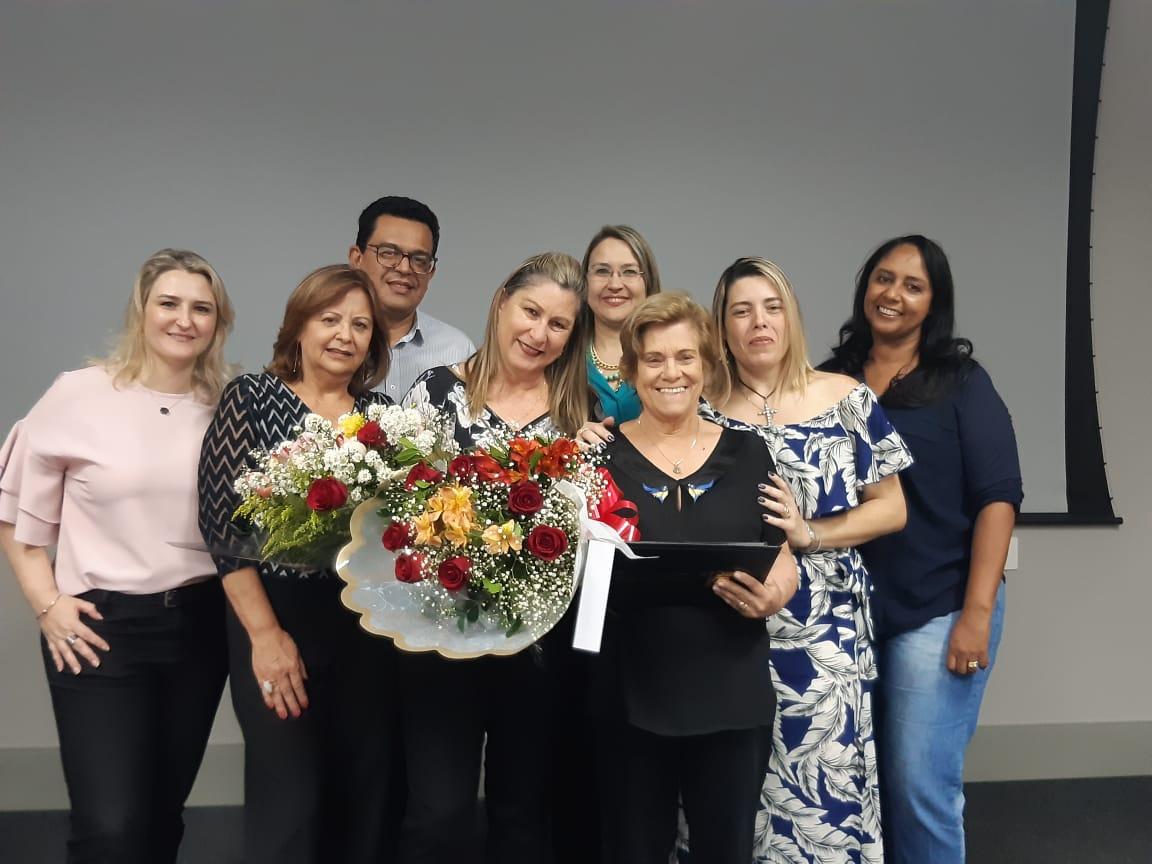 CRC/SP Mulher e SINCOFRAN homenageiam a contadora Elza Guardaldo Campos.