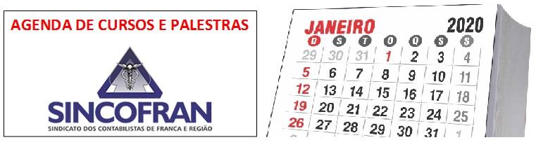 Agenda de Cursos e Palestras em Janeiro 2020