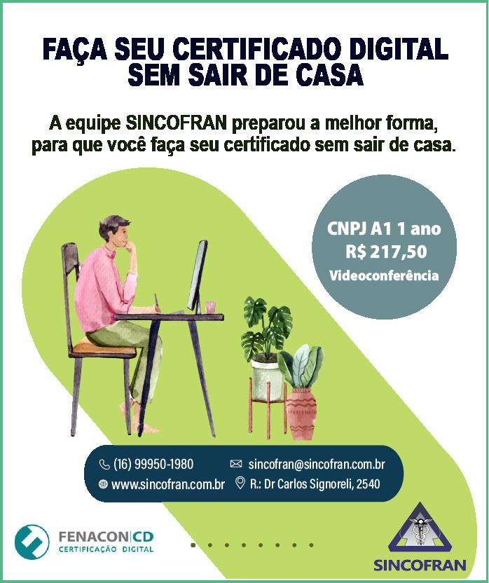 Neste período de face Emergencial Certificação Digital por Videoconferência!